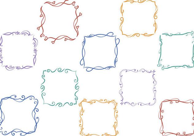 Free Floral Frames Vectors - vector #415007 gratis