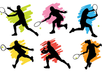 Free Tennis Icons Vector - Free vector #415057