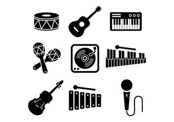 Free Musical Instrument Vector - Kostenloses vector #415167