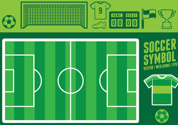 Soccer Symbol Web Icons - Free vector #415177