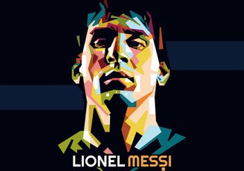 Lionel Messi WPAP - бесплатный vector #415197