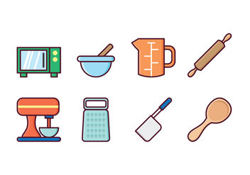 Free Kitchen Icon Set - Free vector #415697