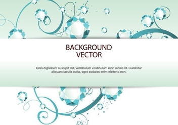 Rhinestone Diamond vector background - vector #415847 gratis