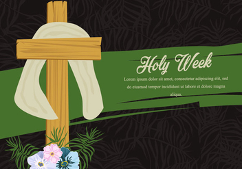 Holy Week Palm Background - vector #415897 gratis