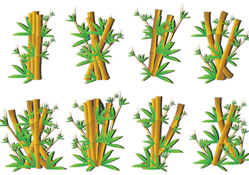 Bamboo icons - vector gratuit #416127