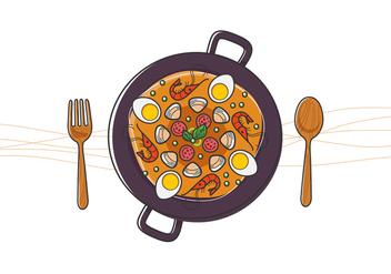 Delicious Paella - vector gratuit #416187