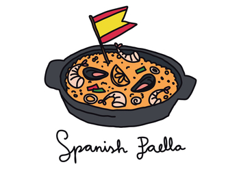 Paella Doodle - Free vector #416217