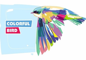 Colorful Bird - Animal Life - Popart Portrait - Free vector #416467