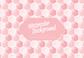 Vector Watercolor Honeycomb Pattern - Free vector #416557