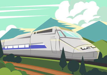 Tgv High Speed Train - vector gratuit #416657