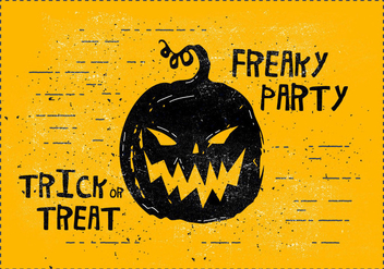 Freaky Halloween Vector Illustration - Free vector #416707