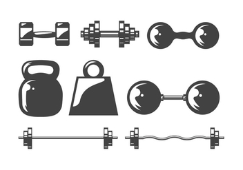Dumbell icons - Free vector #416737