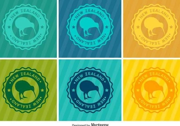 Kiwi Bird Vector Badges - бесплатный vector #416887