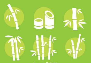 Bamboo White Vector Set - Free vector #417237