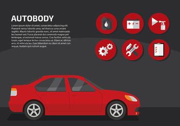 Auto Body Service Free Vector - vector #417277 gratis