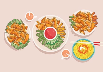 Buffalo Wings Vector - Free vector #417517