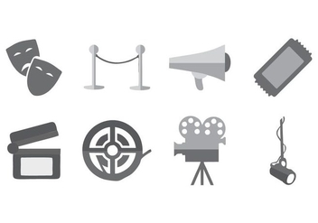 Free Theatre Icons Vector - Free vector #417577
