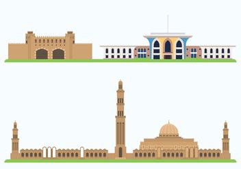 Oman Historic Showplace - Free vector #417597