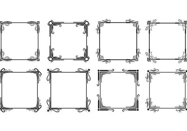 Set Of Cadre Vectors - Kostenloses vector #417657