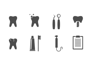 Free Dentistry Vector Icons - Free vector #417977