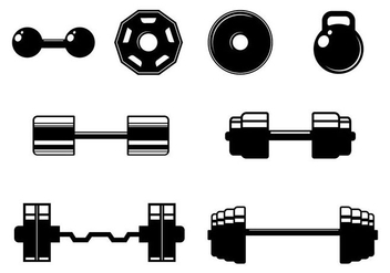 Free Fitness Elements Icons Vector - Free vector #417987