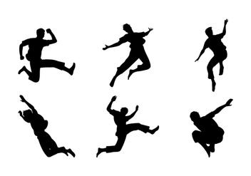 Man Jumping Siluetas Free Vector - бесплатный vector #418067