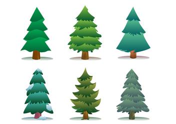 Sapin Tree Icon Set - Free vector #418157