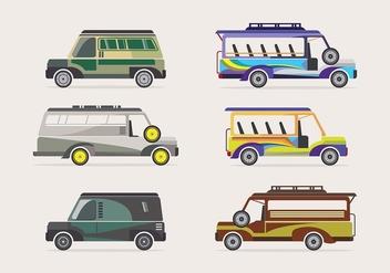 Jeepney transportation vector - Kostenloses vector #418387