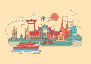 Bangkok Landmark Vector - vector gratuit #418597