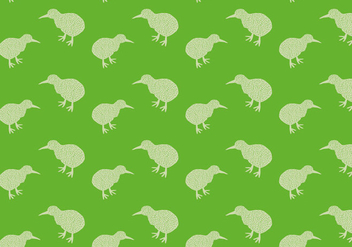 Free Kiwi Bird Seamless Pattern Vector Illustration - Kostenloses vector #418667