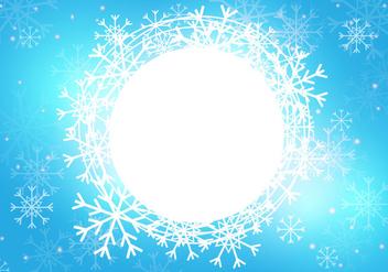 Snow Season Background Template - vector gratuit #418767