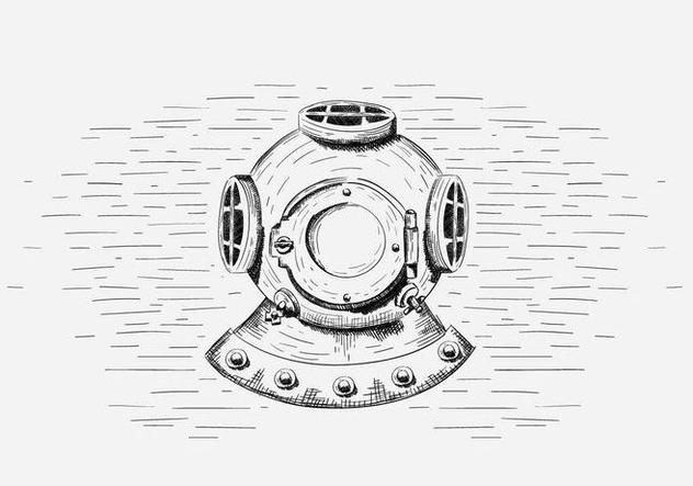 Free Vector Diving Helmet Illustration - Free vector #419037