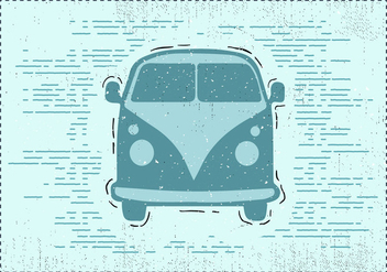 Free Hand Drawn Vintage Car Background - vector gratuit #419047