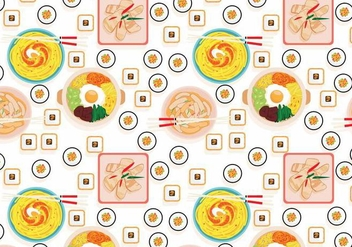 Korean Food Pattern Vector - Free vector #419127