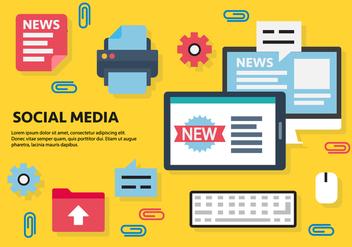 Free Social Media Vector Illustration - Kostenloses vector #419197