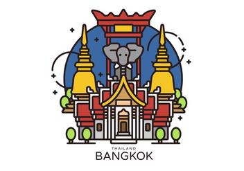 Bangkok Landmark Vector Illustration - vector gratuit #419257