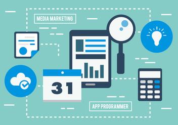 Free Digital Marketing Business Vector Illustration - Free vector #419347
