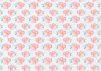 Free Vector Pink Watercolor Floral Pattern - Free vector #419437