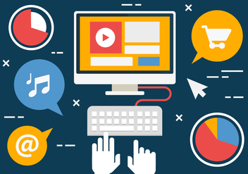 Free Flat Digital Marketing Concept Vector - Kostenloses vector #419447