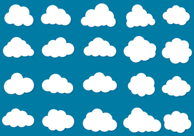 Free Vector Clouds Icon Collection - vector gratuit #419477