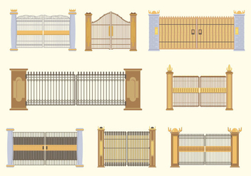 Free Open Gate Vector - Free vector #419877