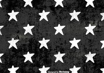 Vector Grunge White Stars Pattern - бесплатный vector #419907