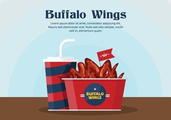 Buffalo Wings Vector - Free vector #420017