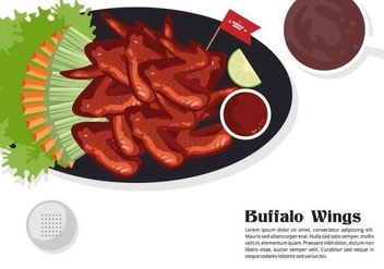Buffalo Wings Vector Background - Free vector #420027