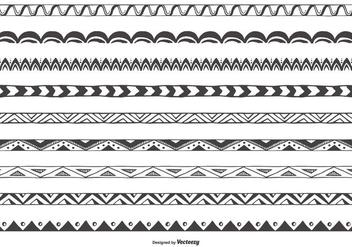 Decorative Sketchy Vector Border Collection - Free vector #420107