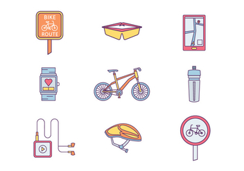 Free Bicycling Vector - Kostenloses vector #420147