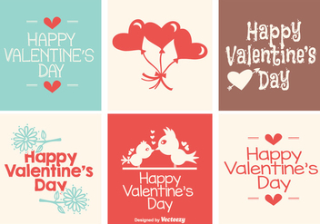 Cute Mini Valentine's Day Crad Collection - vector gratuit #420197