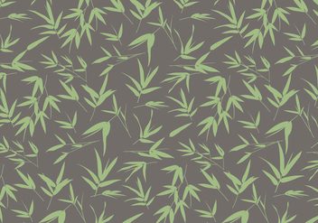 Bamboo Leaves Pattern Vector - Free vector #420227