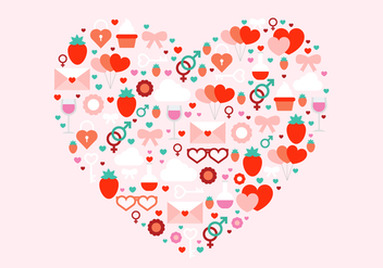 Free Valentine's Day Vector Heart - бесплатный vector #420287