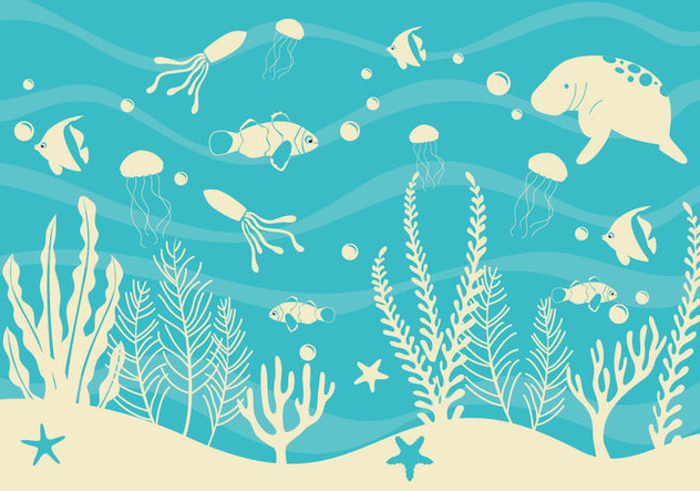 Seabed Simple Vector - Free vector #420347